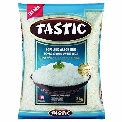 TASTIC LONG GRAIN WHITE RICE 2KG