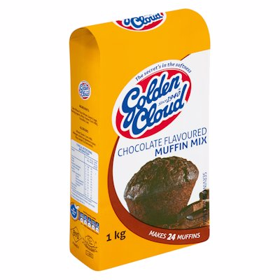 GOLDEN CLOUD CHOCOLATE FLAVOURED MUFFIN MIX 1KG