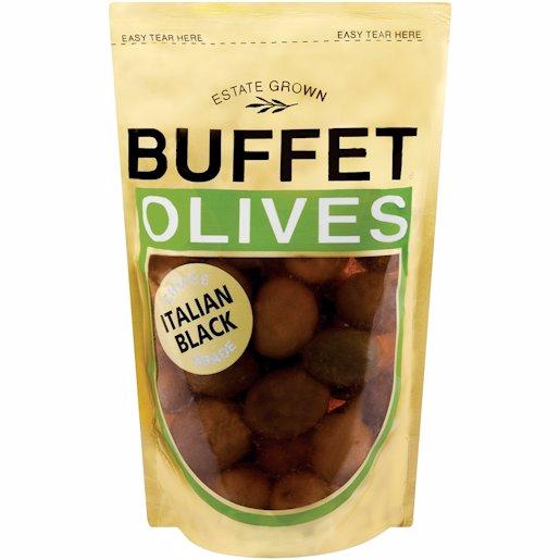 BUFFET OLIVES BLACK ITALIAN 200G
