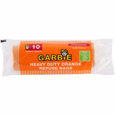 GARBIE H/DUTY REFUSE ORANGE 10'S