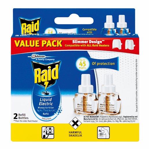 RAID ELEC LIQ REFILL 2'S