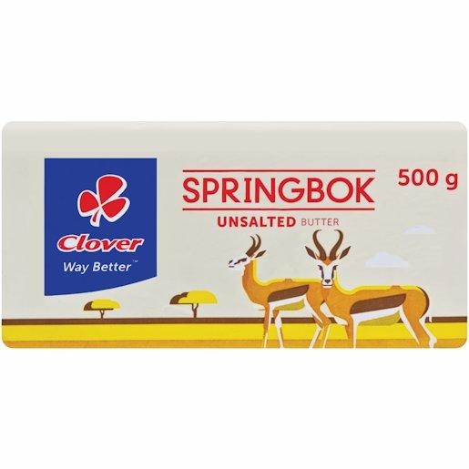 SPRINGBOK BUTTER UNSALTED 500GR