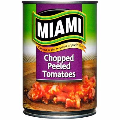 MIAMI CHOPPED PEELED TOMATOES 410GR