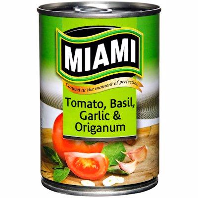 MIAMI TOMATO BASIL GARLIC & ORIGANUM 410G