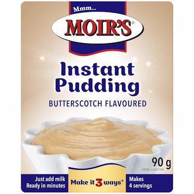 MOIR'S PUDDING INSTANT BUTTERSCOTCH FLAVOUR 90G