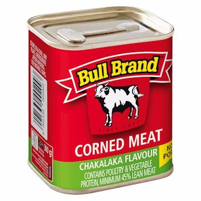 BULL BRAND CORNED MEAT CHAKALAKA FLAVOUR 300G