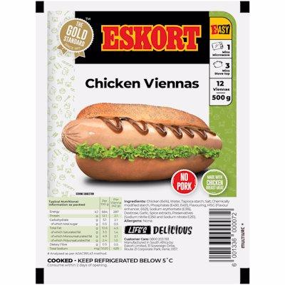 ESKORT CHICKEN VIENNAS 500G