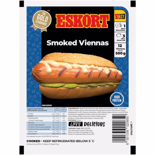 ESKORT VIENNAS SMOKED 500GR