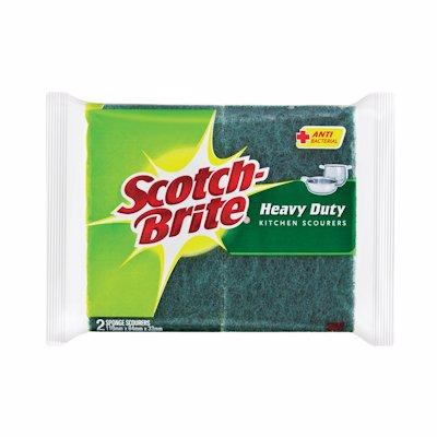 SCOTCHBRITE HEAVY DUTY KITCHEN SCOURERS 1'S