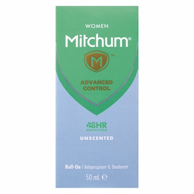 MITCHUM ROLL ON UNSCENTED 50ML