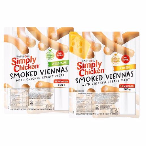 SIMPLY CHICK VIENNAS CHEESE 500GR