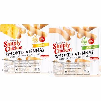 SIMPLY VIENNAS CKN/CHS 1KG