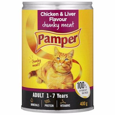 PAMPER GOURMET CHIC&LIVER 400GR