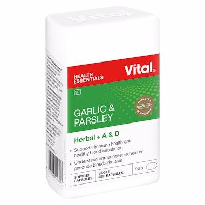 VITAL HEALTH GARLIC & PARSLEY CAPSULES 100'S