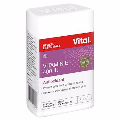 VITAL VIT E 400IU CAPSULES 30's
