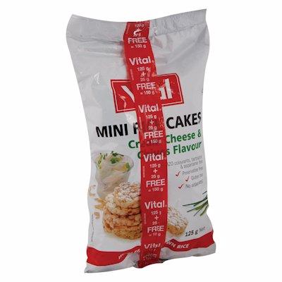 VITAL R/CAKE C/CHSE&CHIVE 125GR