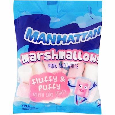 MANHATTAN MALLOWS PINK & WHITE 150G