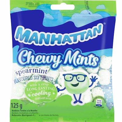 MANHATTAN CHEWY MINTS SPEARMINT 125GR
