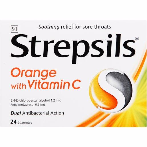 STREPSILS ORANGE C 24'S