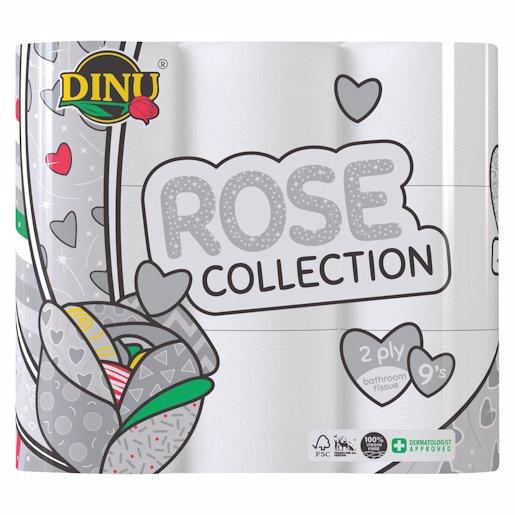 DINU B/ROOM TISSUE 2PLY W/ROSE 9`s