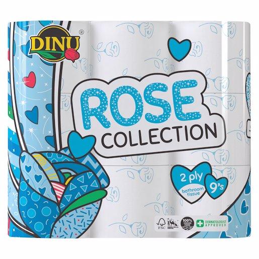 DINU B/ROOM TISSUE 2PLY BLU/ROSE 9`s