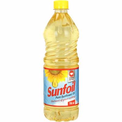 SUNFOIL SUNFLOWER OIL 750ML