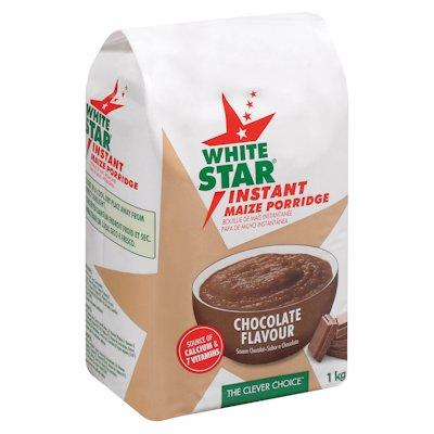 WHITE STAR INSTANT MAIZE PORRIDGE CHOCOLATE 1KG