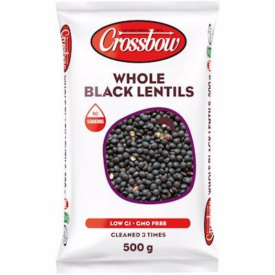 CROSSBOW BLACK LENTILS 500GR