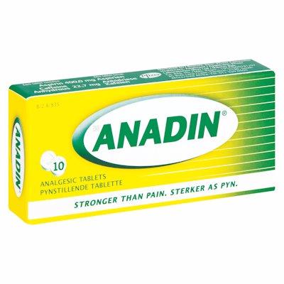 ANADIN TABLETS 10'S