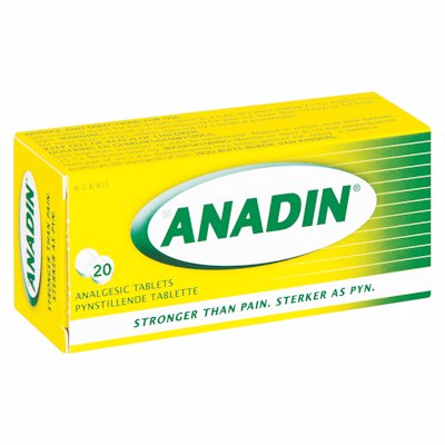 ANADIN TABLETS 20'S