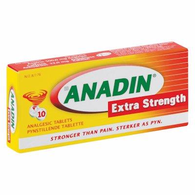 ANADIN EXTRA STRENGTH TABLETS 10'S