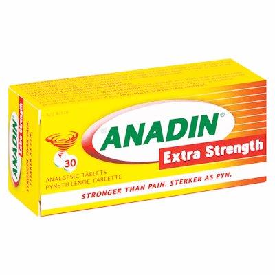 ANADIN EXTRA STRENGTH TABLETS 30'S