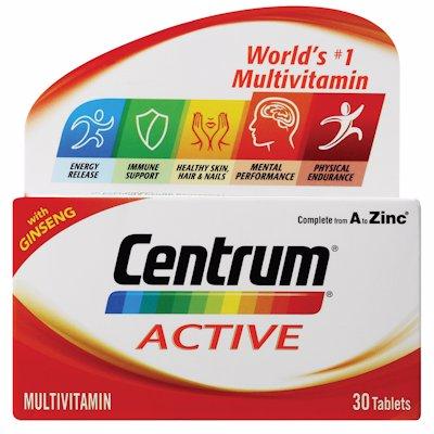 CENTRUM MULTIVITAMIN ACTIVE 30'S