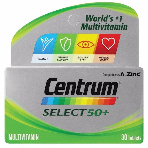 CENTRUM M/VIT SELECT50+ 30'S