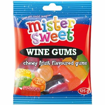 MR SWEET WINE GUMS 125GR