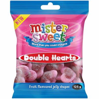 MISTER SWEET DOUBLE HEARTS 125GR