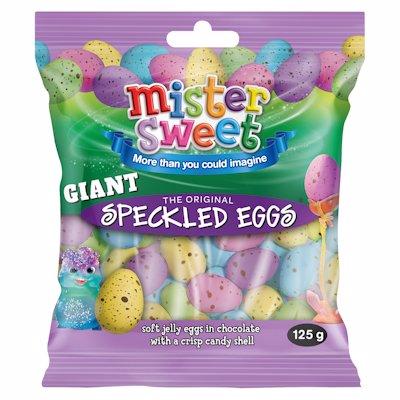 MR SWEET GIANT SPECKLED EGGS 125GR