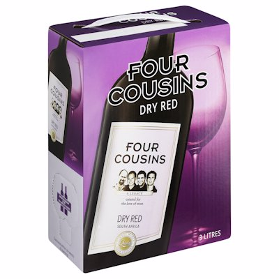 FOUR COUSINS DRY RED 3LT