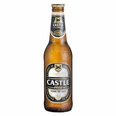 CASTLE LAGER NON-ALCOHOLIC 340ML