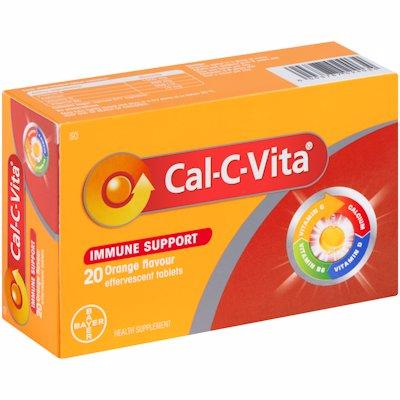 CAL-C-VITA TABLETS IMMUNE SUPPORT ORANGE 20'S