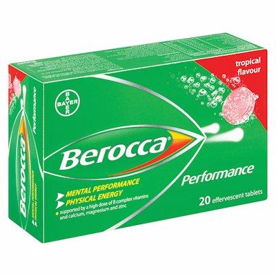BEROCCA EFFERVESCENT TABLETS TROPICAL 20'S