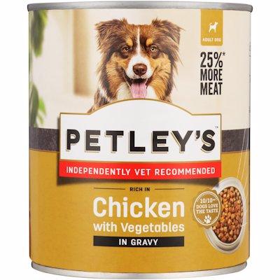 PETLEYS DOG CHIC/VEG/GRAV 775GR
