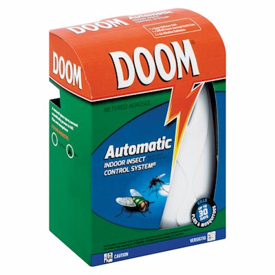 DOOM AUTOMATIC INDOOR INSECT CONTROL SYSTEM 1'S