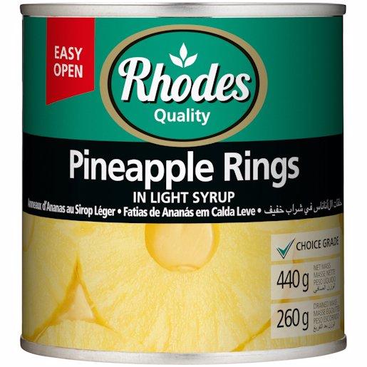 RHODES PINEAPPLE RINGS 440GR