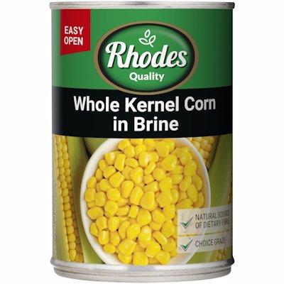 RHODES WHOLE KERNEL CORN IN BRINE 410G