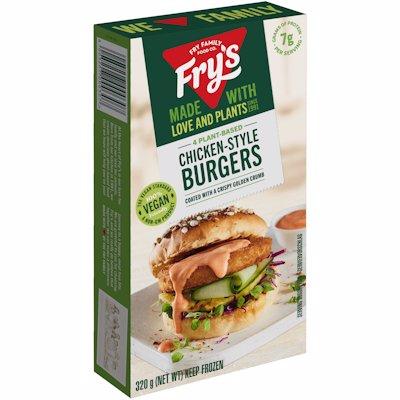 FRY FOODS VEG CHIC BURGER 320GR