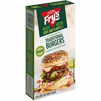 FRY'S MEAT FREE TRADITIONAL BURGERS VEGAN 320GR