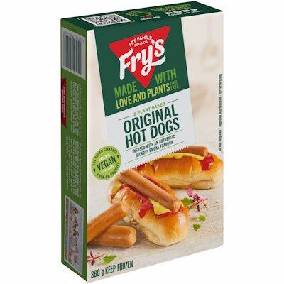 FRY'S MEAT-FREE ORIGINAL HOT DOGS VEGAN 360G
