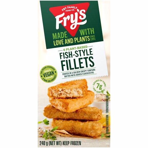 FRYS FISH STYLE FILLETS 240GR