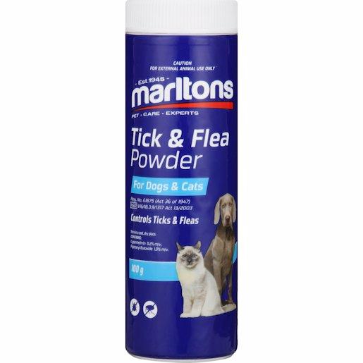 MARLTONS TICK & FLEA PWD CATS & DOGS 100GR